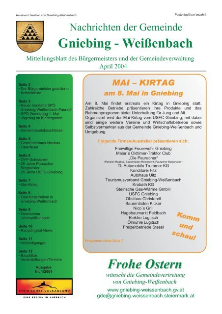 Gniebing-Weienbach - Thema auf comunidadelectronica.com