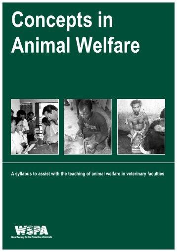 Concepts in Animal Welfare - Wspa