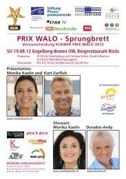 Show Szene Schweiz / PRIX WALO - Brunni