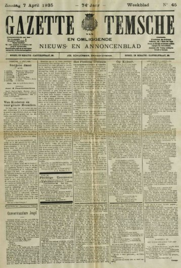 Zondag 7 April 1935