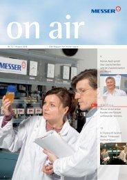 Messer bietet seinen Kunden eine Vielzahl umfassender Services. 8 ...