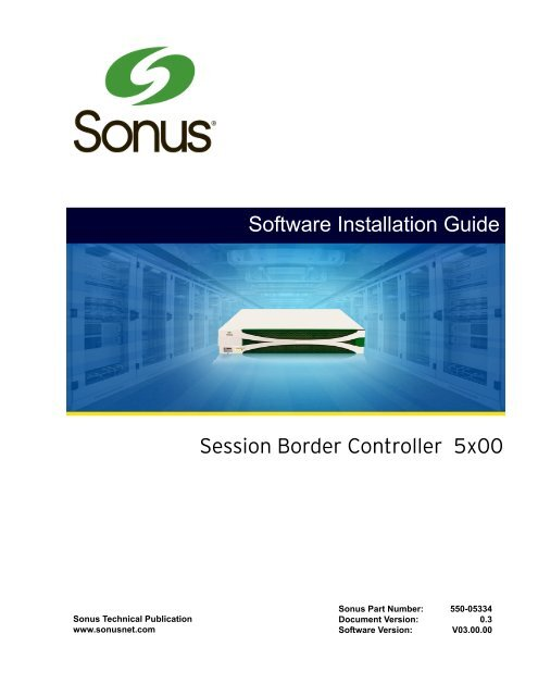 Firmware and OS Upgrade using a USB Flash Drive - Sonus