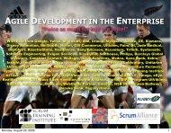 agile development in the enterprise - Object Technology Jeff ...
