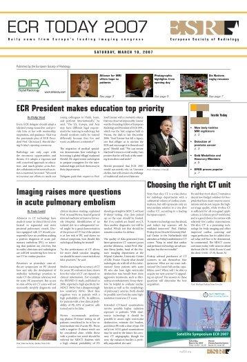 ECR TODAY 2007 - myESR.org