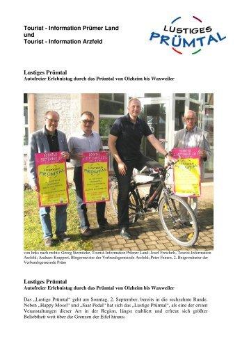 Tourist - Information Prümer Land und Tourist - Information Arzfeld ...