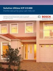 Home security you can rely on - Bosch Security Systems