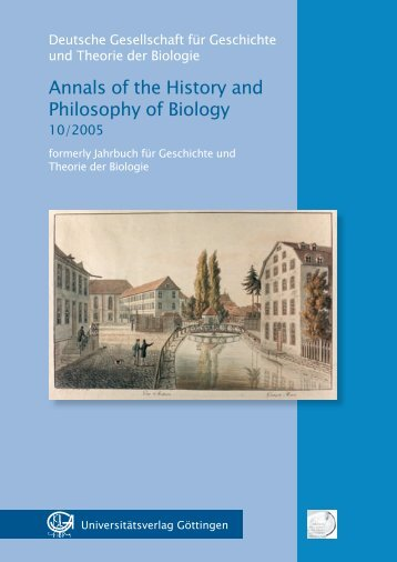 Annals of the History and Philosophy of Biology