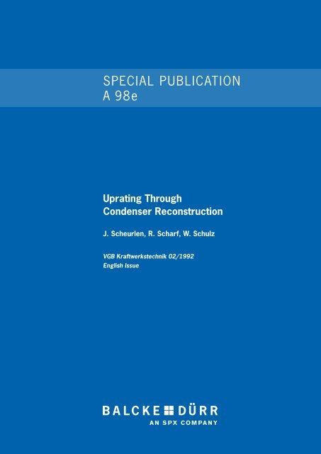 Uprating Through Condenser Reconstruction - Balcke-Dürr ...
