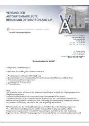 Rundschreiben - BA, Bundesverband Automatenunternehmer e.V.