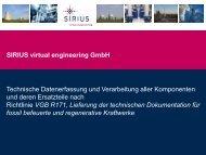 Kontakt: SIRIUS virtual engineering GmbH