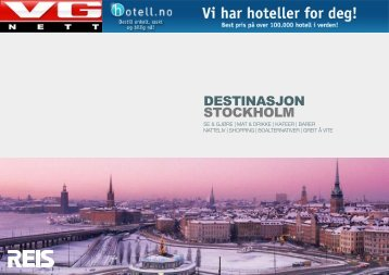 DESTINASJON STOCKHOLM - VG