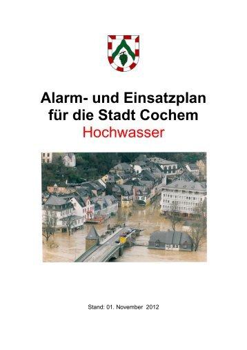 Alarm- und Einsatzplan für die Stadt Cochem - Verbandsgemeinde ...