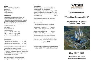 VGB Workshop ''Flue Gas Cleaning 2010'' May 26 ... - VGB PowerTech