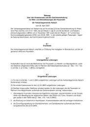 Satzung über den Kostenersatz und die Gebührenerhebung für