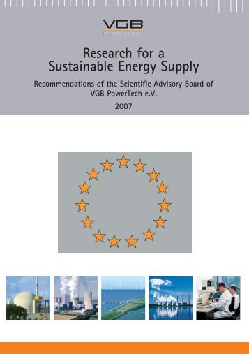 Research for a Sustainable Energy Supply - VGB PowerTech