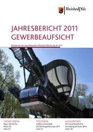 jahresbericht 2011 gewerbeaufsicht - Landesamt für Umwelt ...