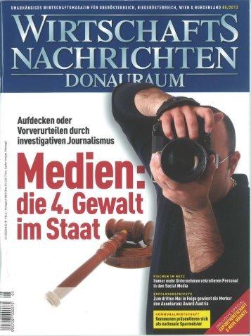 Wirtschaftsnachrichten, Ausgabe 05/2012, Seite 22.