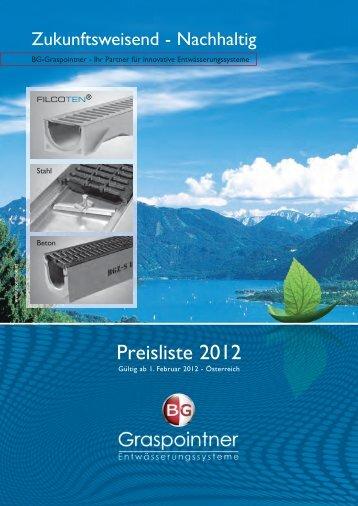 Preisliste 2012.indd - BG Graspointner GmbH & Co KG