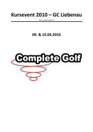 Kursevent 2010 – GC Liebenau - Golf Club Liebenau