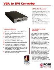 VGA to DVI Converter - Rose Electronics