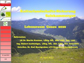 Vortrag DI Dr. Martin Kastner - Gemeinde Gosau