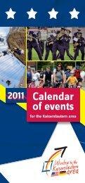 2011 Calendar of events - ILE-Region Westrich