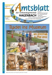 Radel ins Museum - Verbandsgemeinde Hagenbach
