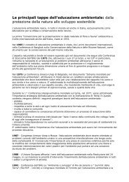 Le principali tappe dell'educazione ambientale: dalla protezione ...