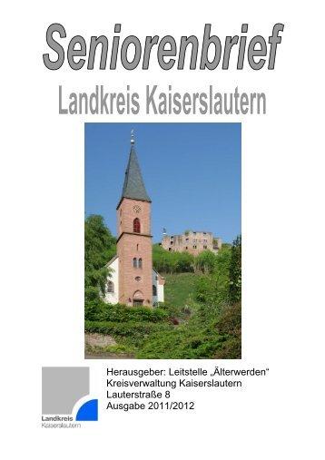 Liebe Leserinnen und Leser - Landkreis Kaiserslautern