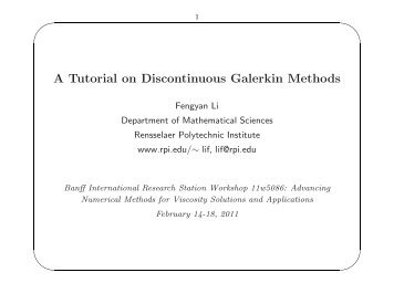 Galerkin's method for the solution of problem with partial.