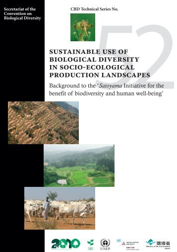 Sustainable use of biological diversity in socio-ecological production ...
