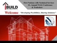 iBuild - First Nations (Alberta) Technical Services Advisory Group