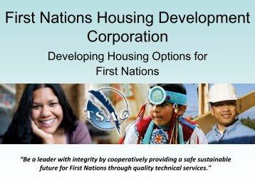 TSAG First Nations Housing Corporation - First Nations (Alberta ...
