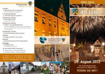 Programm 40 Jahre 1972–2012 - Verbandsgemeinde Annweiler am ...