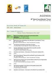 World Travel Monitor Forum 2012 Pisa Program - ENAT | European ...