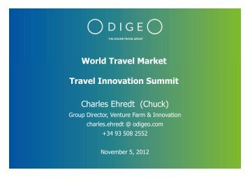 World Travel Market Travel Innovation Summit Charles Ehredt (Chuck)
