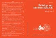 Beiträge zur Entomofaunistik - Oberösterreichische Landesmuseen