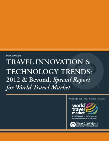 travel innovation & technology trends - World Travel Market