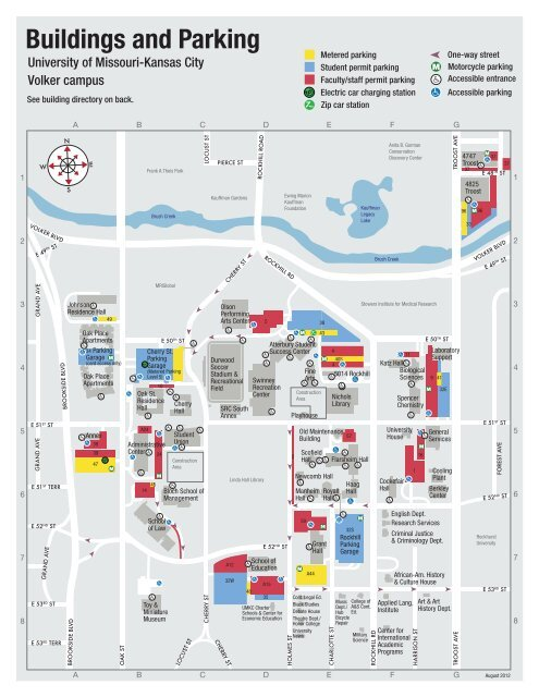 Volker Campus Map University Of Missouri Kansas City