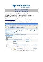 Generelle Tipps und Hinweise - Volksbank Bad Goisern