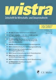 BGH - wistra - Zeitschrift für Wirtschafts- und Steuerstrafrecht