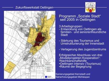 """Programm """"Soziale Stadt"""" seit 2005 in Oettingen"""