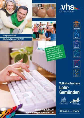 unser Programm als Download - VHS Lohr - Lohr a. Main