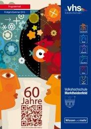 Programmheft Frühjahr/Sommer 2013 - VHS Marktheidenfeld - Stadt ...