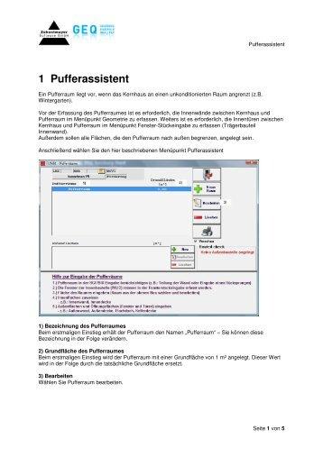 1 Pufferassistent - GEQ