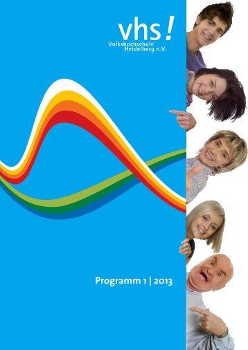 Programm 1 | 2013 - Volkshochschule Heidelberg