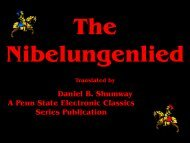 Nibelungenlied - Pennsylvania State University