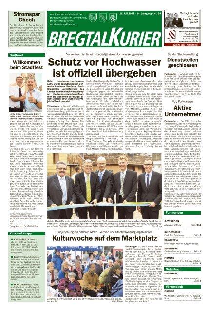 Ausgabe vom 11.07.2012 Gemeinde Vöhrenbach