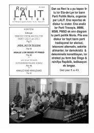 eta-de-lye bann parti politik moris - Lalit Mauritius