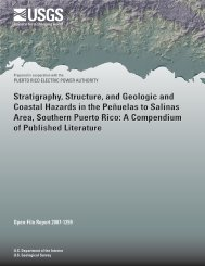 Stratigraphy, structure, and geologic and coastal hazards in - USGS